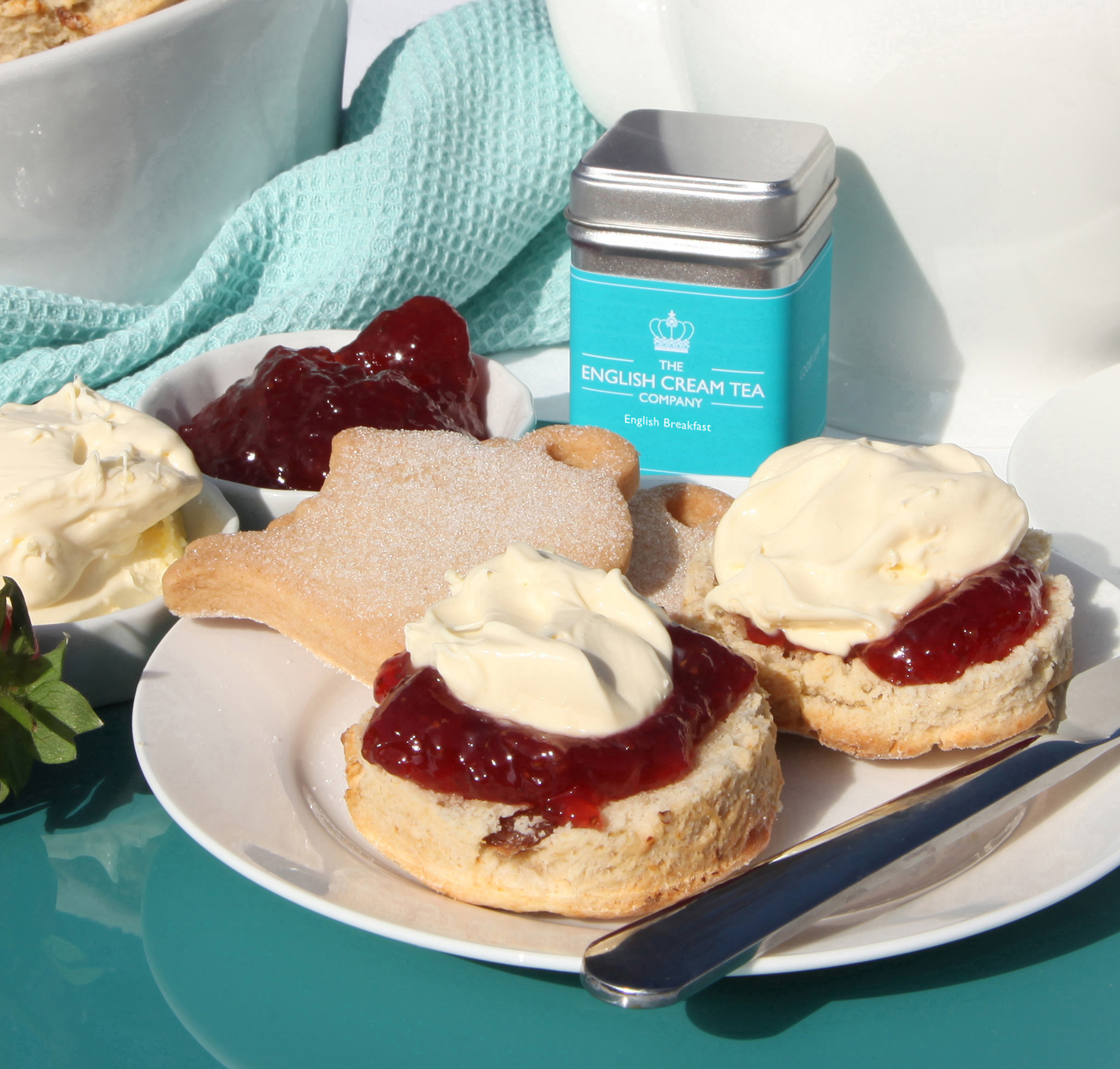 Jam first, Cornish way, scones by The English Cream Tea Company