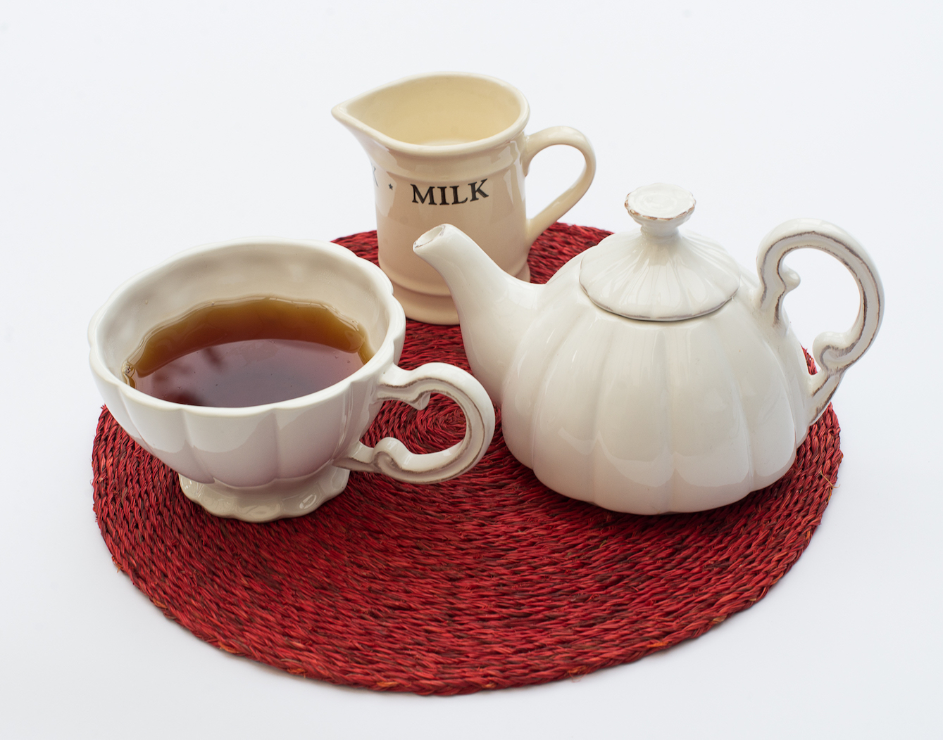 Tea pot, tea, milk, no cream - The English Cream Tea Company
