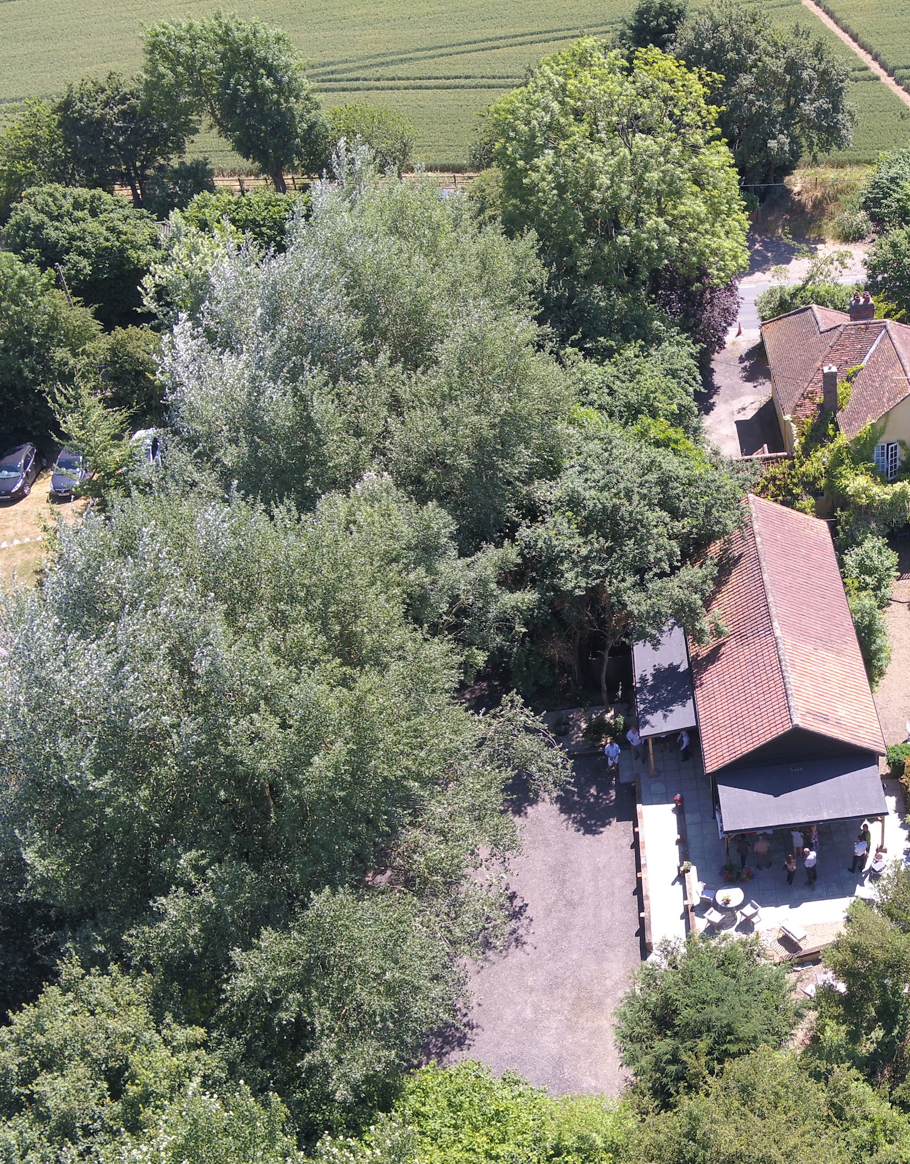 The Secret Sconery Venue in Essex is rather secret - aerial view